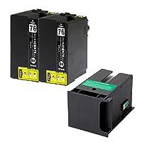 エプソン用 ICBK76 互換インク ブラック 2本 メンテナンスボックス付き PXMB3互換 PX-M5040F PX-S5040 PX-M5041F PX-M5080F PX-M5081F PX-S5080