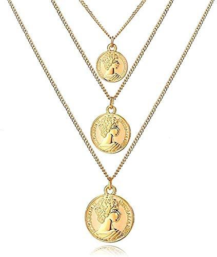 Yiffshunl Collar Bohemio Collar de Perlas Largo para Mujer Y Collares y Colgantes de múltiples Capas Regalos de joyería de Perlas