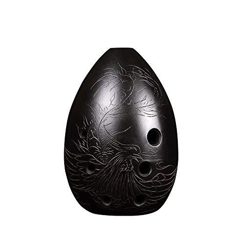 JCCOZ Phoenix Yufei F Tune, Acht-Loch Ocarina Blasinstrument mit Schutztasche und Noten Birnenförmig