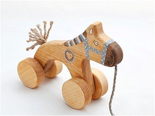 Die Holz Pferd handgefertigte Pull entlang Spielzeug-Pferd