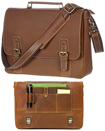 Viosi Leather Messenger Bag For Men