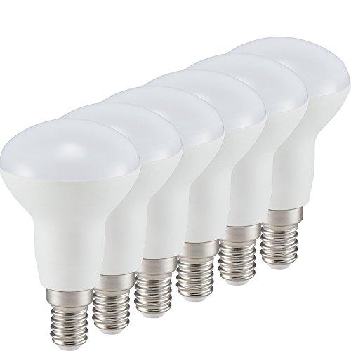 Müller-Licht 6er-Set LED Lampe Reflektor R50 Essentials - 6 W ersetzt 37 W - Kunststoff - E14 - weiß
