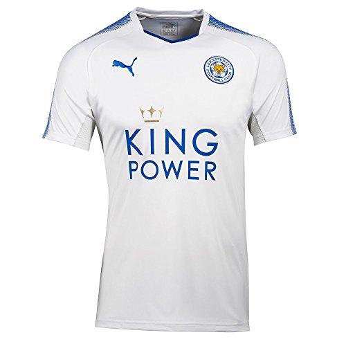 PUMA Fußball Leicester City FC England Trikot 3rd 2017 2018 Herren weiß blau Größe M