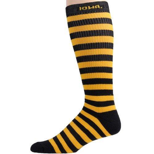 Iowa Hawkeyes Gold-Black Striped Tall Socks