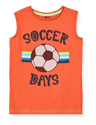s.Oliver Junior Jungen 404.10.005.12.130.2038786 T-Shirt, 2580 orange, 116/122/REG