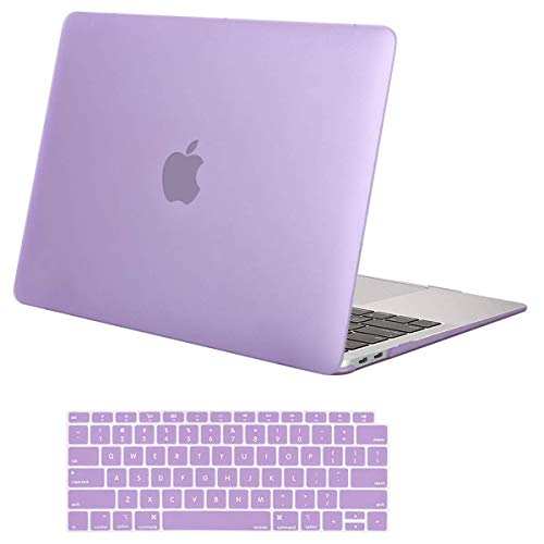 MOSISO MacBook Air 13 inch Case 2020 2019 2018 Release A2179 A1932, Plastic Hard Shell Case & Keyboard Cover Skin Only Compatible with MacBook Air 13 inch with Retina Display, Light Purple