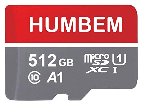 512GB Micro SD Card Memory Card with Adapter - 100MB/s, C10, U1, Full HD Available, A1, Micro SDXC UHS-I Memory Card XHL04