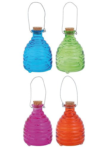 Glass Wasp Trap 9cm x 2. Choose from 2 Different colourways
