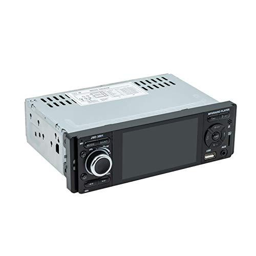 Reproductor MP5 para automóvil - Receptores de pantalla táctil Bluetooth de radio estéreo para automóvil de 4.1 pulgadas con imagen de inversión de espejo