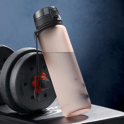 Nueva botella de agua deportiva de 1000 ml, sin BPA, portátil, a...