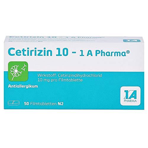 CETIRIZIN 10-1A Pharma Filmtabletten 50 St