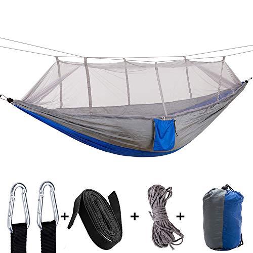 YUNZUN Hamac d'extérieur de Camping, Double Portable Hamac Jardin avec, Charge 200KG (260x140CM), Ultra-léger avec moustiquaire pour intérieur et extérieur