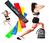 VPX Strength Resistance Exercise Loop Bands | Natural Latex Flexbands for Home Fitness, Stretching, Therapy, Strength Training, Workouts, Pilates, Yoga | Set of 5