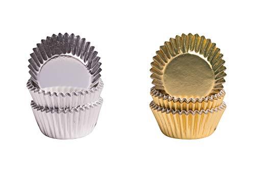 Demmler Pralinenkapsel - Pralinenförmchen - Gold & Silber 2er Set - 150 Stück - Made in Germany