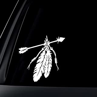 AK Wall Art Arrows and Feathers Native - Vinyl Decal - Car Phone Helmet - Select Size