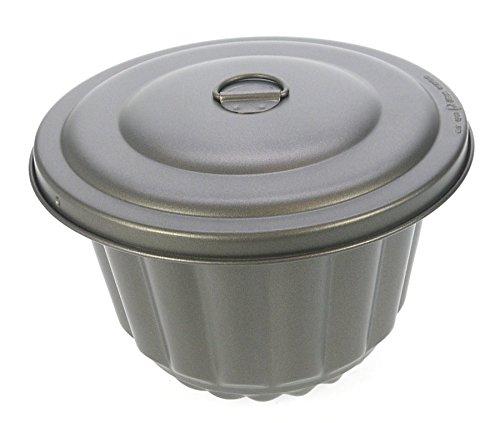 Ametalurgica Wasserbadform antihaftbeschichtet 1,0 Liter Mehlbeutel und Puddingform