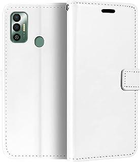 جراب المحفظة من تكنو سبارك 7T، جراب قلاب مغناطيسي من الجلد الصناعي الممتاز مع حامل بطاقة ومسند لـ Tecno Spark 7T
