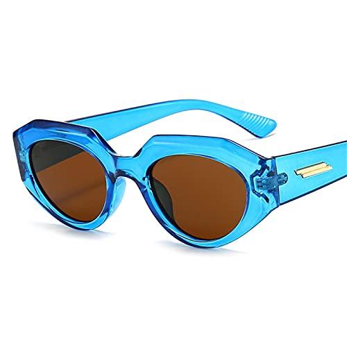Gafas de Sol Sunglasses Gafas De Sol De Lujo con Montura Gruesa De Ojo De Gato para Mujer, Gafas De Sol De Conducción Retro De Moda para Niñas, Uv400 para Mujer, Verde C2