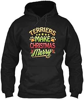 Terrier Dog Lover Christmas Terriers Hoodie, Cute Christmas Sweatshirt, Christmas Tree, Christmas Outfit, Christmas shirt, Pullover Hoodie