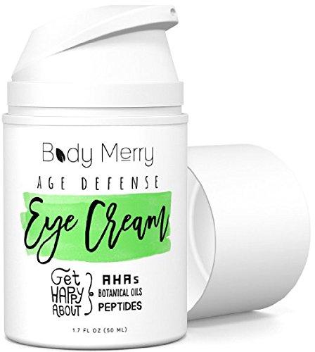 Body Merry Age Defense Eye Cream - Meilleur Hydratant Anti-Âge Pour Cercles Noirs Et Pouffage W 50+ Ingrédients Comme L'Acide Hyaluronique + Huiles Naturelles Et Organiques