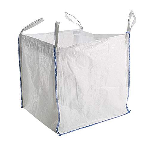 Yuzet - 5 sacchi resistenti, di qualità FIBC, per scarti di lavorazioni di grosse dimensioni (costruzioni, giardino), fino a 1tonnellata