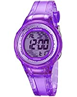Calypso Women's Digital Watch with Purple Dial Digital Display and Purple Plastic Strap K5688/3
