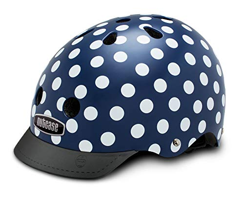 Nutcase Street - Navy Dots Helm, Mehrfarbig, Taille : L