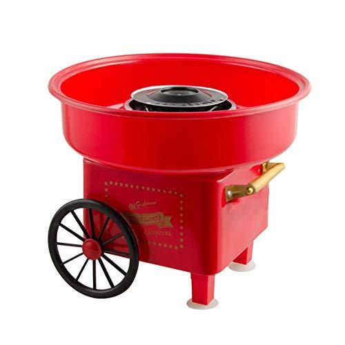 Homemarke Cotton Candy Maker/Zuckerwattemaschine/Zuckerwatte Maschine - Kunststoff + Edelstahl - Groß Rot