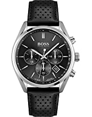Hugo Boss Herren-Uhren Analog Quarz Leder 32014424