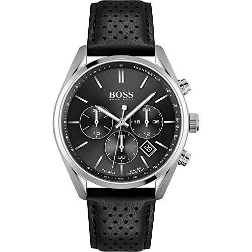 Hugo Boss Reloj Analógico para Hombre de Cuarzo con Correa en Piel de Becerro de Cuero 01513816