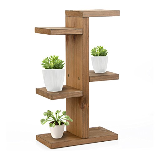 JYCRA Mini-Blumentopfregal, aus Holz, für den Innen- und Außenbereich., holz, coffee, 35x20x10cm