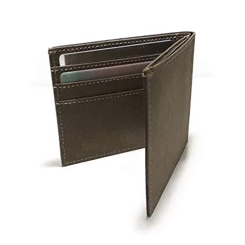 Woodline Wallet - Flache & vegane Papier Geldbörse | mit RFID Schutz & Münzfach | minimal Wallet | für Damen, Herren & Kinder | in Braun