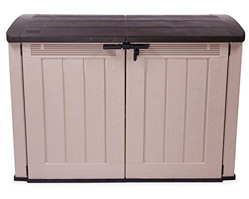 Ultra Ondis24 Fahrrad- und Mülltonnenbox (3 x 120 L) Gartengarage Gartenmöbelbox Fahrradbox XXL mit Boden