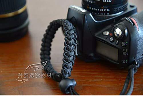 RUBRIC? Braided Millipede Paracord Hand Grip Wrist Strap for All DSLR Camera/Binoculars (Black)