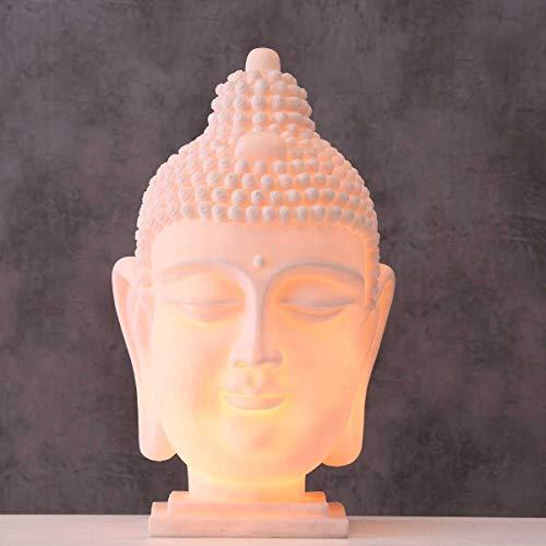 Design Tisch Lampe Buddha Wohn Schlaf Zimmer Beleuchtung Asia Deko Leuchte weiß Boltze 1010899