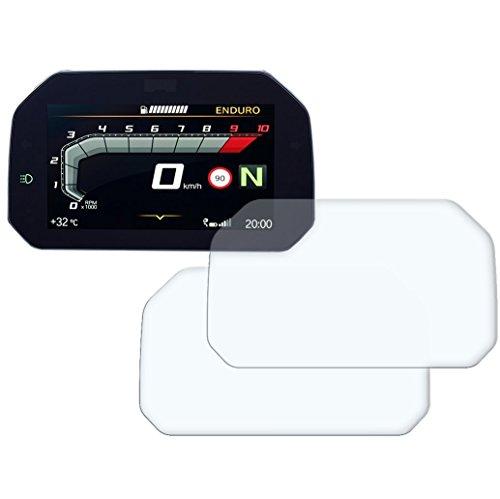 Speedo Angels Dashboard Displayschutzfolie Tachoschutzfolie für R1250 GS (2018+) 1 x Ultra Klar & 1 x Entspiegelt