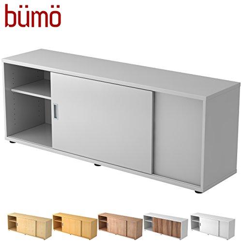 Hamerbacher Sideboard met schuifdeur   Office schuifdeurkast   voor ordner & opbergruimte voor materiaal kantoormeubilair   in 12 kleuren grijs