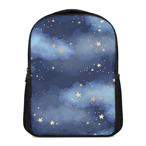 Cuadro de lienzo con estrellas y nubes en el cielo nocturno para...