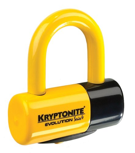 Kryptonite 999614_KRY Evolution Series 4 Disc Lock-Bremsscheibenschloss, 4,8 X 5,4 Cm, Schwarz/Gelb, One Size