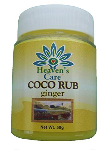 Fantastic Deal! Heaven's Care Coco Rub – Natural VCO Rub – 3 Variants 50g x Set of 12, Calming, Soothing, All-Natural, Petroleum Jelly-Free (Ginger, Set of 12)