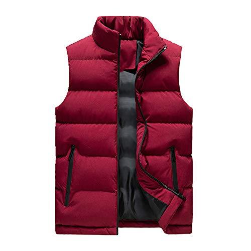 El otoño y el invierno abajo de algodón acolchado chaleco de los hombres de cuello de pie engrosado hombro Chaqueta de abrigo grande
