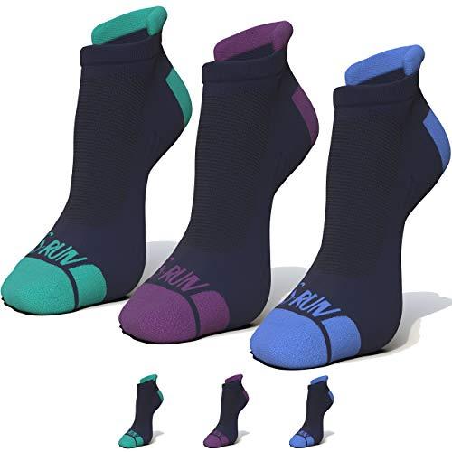 G-Run 3 Pack No Show Low Cut Hidden Blister Resistant Running Socks Moisture Wicking Sock Athletic For Men and Women