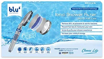blu 6-stage Ionic Shower Filter- The Best Solution to STOP HAIR LOSS