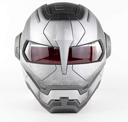 DZTIZI Motorhelm D.o.t gecertificeerde motorcross volledig gezicht Casco Moto Flip Open masker Helm, Iron Man Transformers