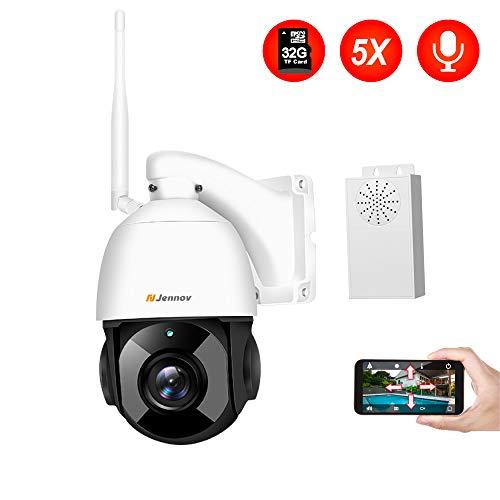 HD 1080P Zweiwege-Audio Aussen /ÜberwachungsKamera WLAN IP Kamera Unterst/ützung von Mobile App Kontrolle PTZ 355/° Schwenkbar WiFi Cam 20m IR-Nachtsich IP65 wasserfest Bewegungsmelder