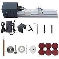 KKmoon Mini torno de pulir máquina de pulir artesanía de carpintería bricolaje herramienta rotativa universal conjunto