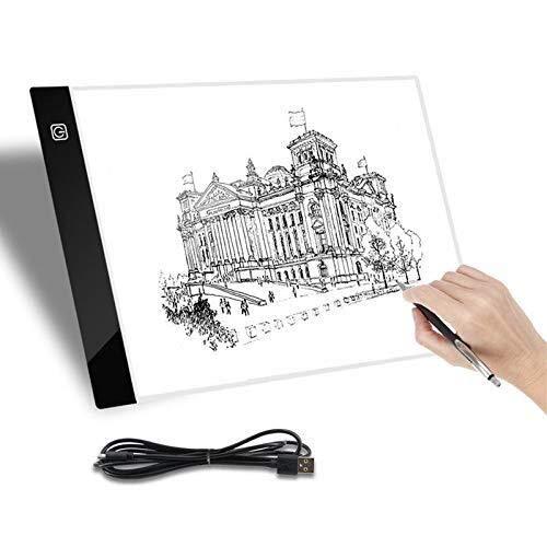 Tablero de Dibujo A4 USB LED Artista Tatuaje Plantilla Stencil ...