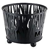 RM Design Feuerschale aus Metall Terrassenofen für den Garten in schwarz 39 cm