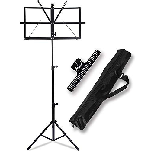 IRONTREE Music Stand - Folding Music Holder with Carrying Bag