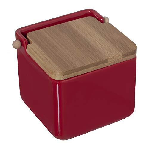 Saleros De Cocina Con Tapa Rojo Marca DRW